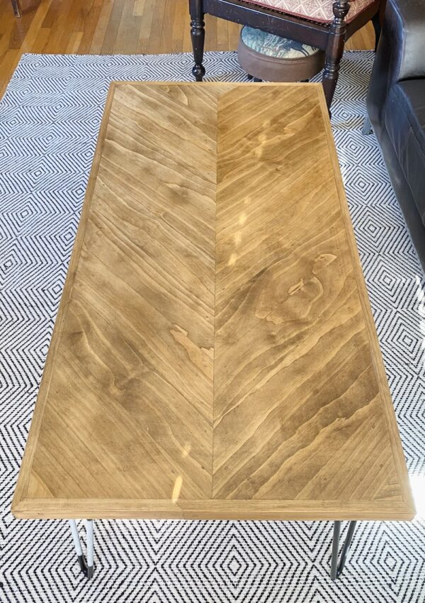 How To Build A Beautiful Herringbone Coffee Table