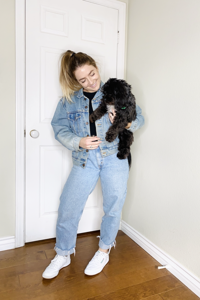mom jeans and canadian tuxedo