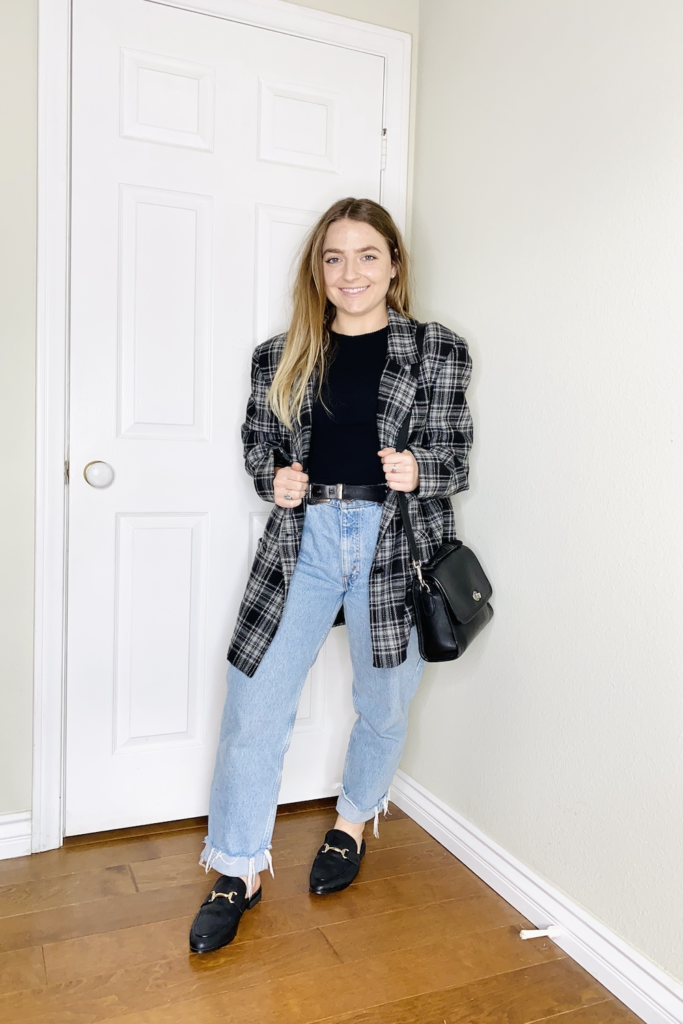 how to style vintage mom jeans