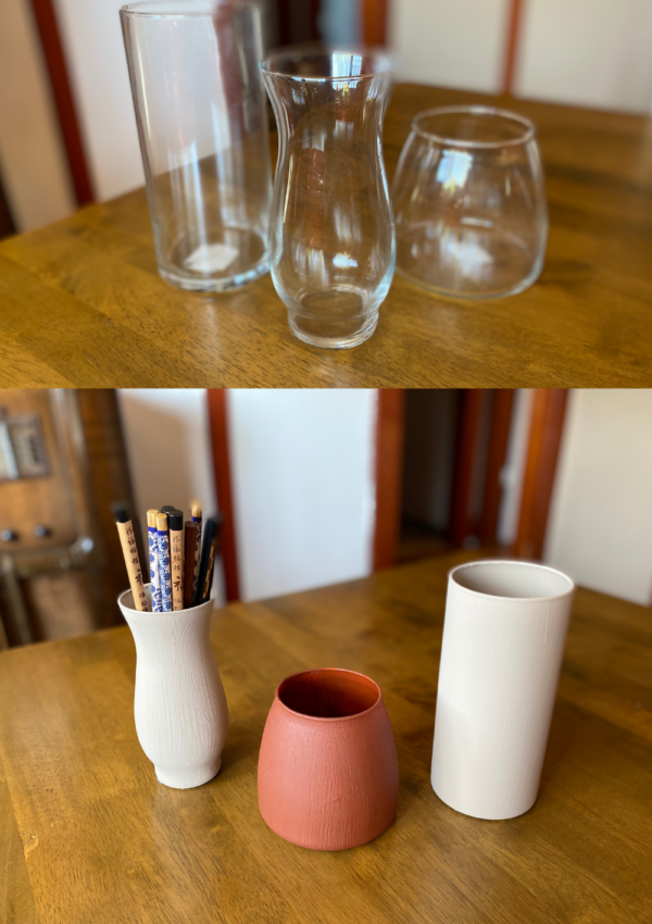 DIY Terracotta Pottery With Upcycled Glass (Simple)
